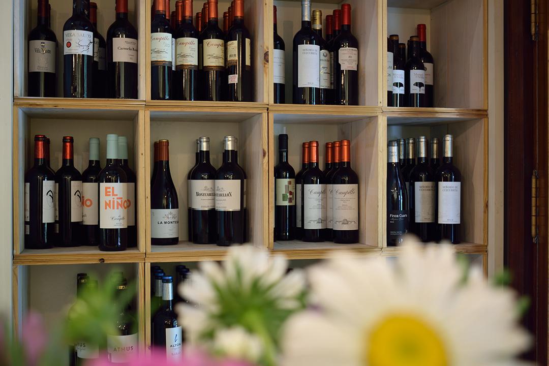 Selección de vinos Basílico restaurante